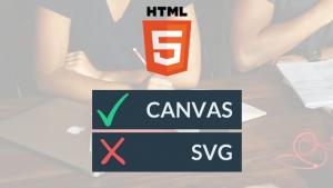 Canvas v SVG