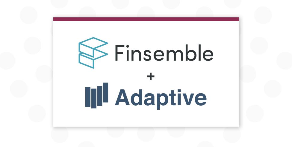 Finsemble and Adaptive logos