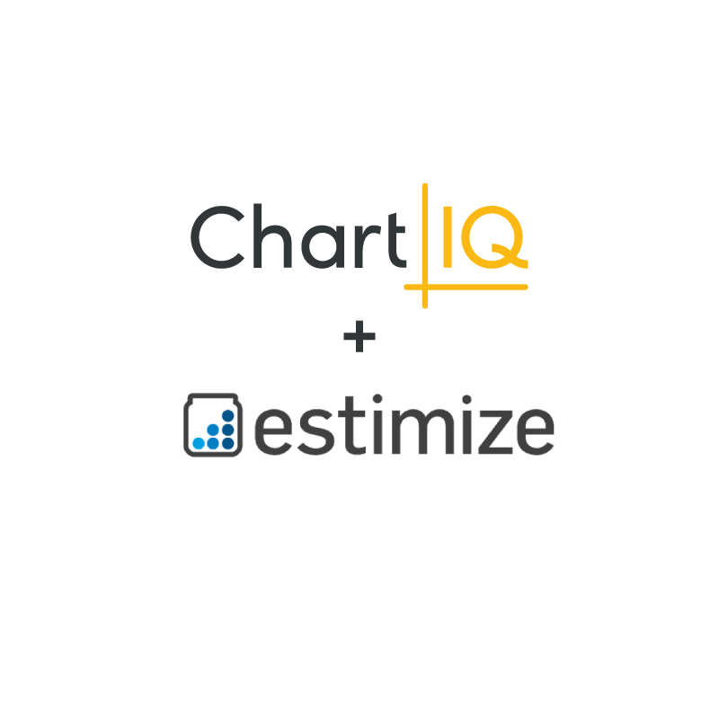 ChartIQ and estimize logos