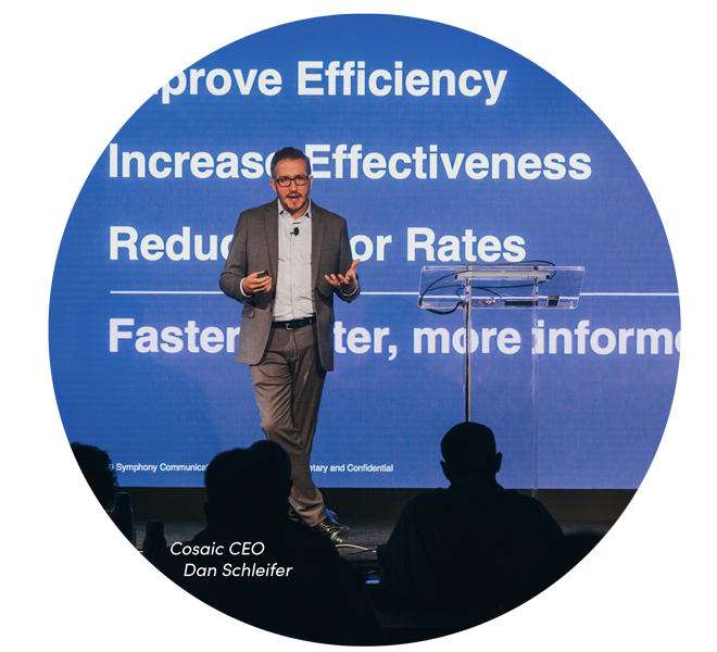 Cosaic CEO Dan Schleifer speaking at a conference